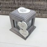 Shabby Chic PERSONALISED Rustic Wood In Memory Of GRANDMA Or ANY NAME Photo Cube - 253968308883